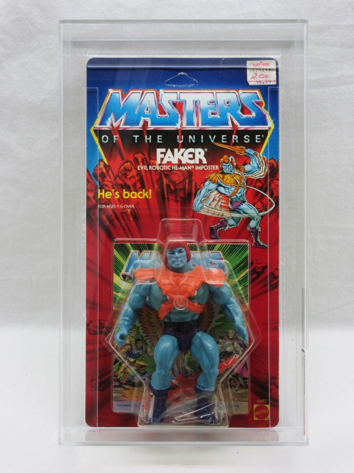 MOTU,VINTAGE,FAKER,HARD HEAD,AFA grade 80,Masters of the Universe,MOC,He-man