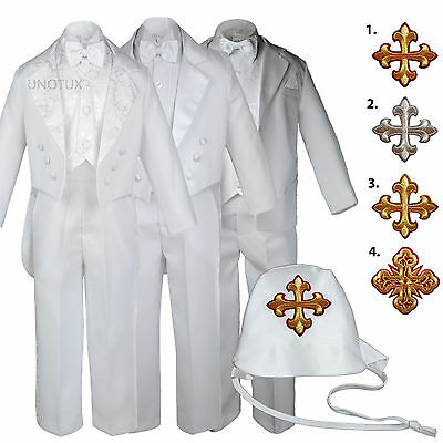 Logical White Baby Toddler Boys Easter Christening Baptism Formal Tuxedo Suits Cross Hat