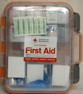 *NEW* American Red Cross Clear Front ANSI A+ 50 Person First Aid Kit