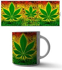 JAH ROOTS 11 OZ COFFEE MUG TEA CUP WEED BLAZE SMOKE CDB HEMP BUD BLUNT RASTA!!!!