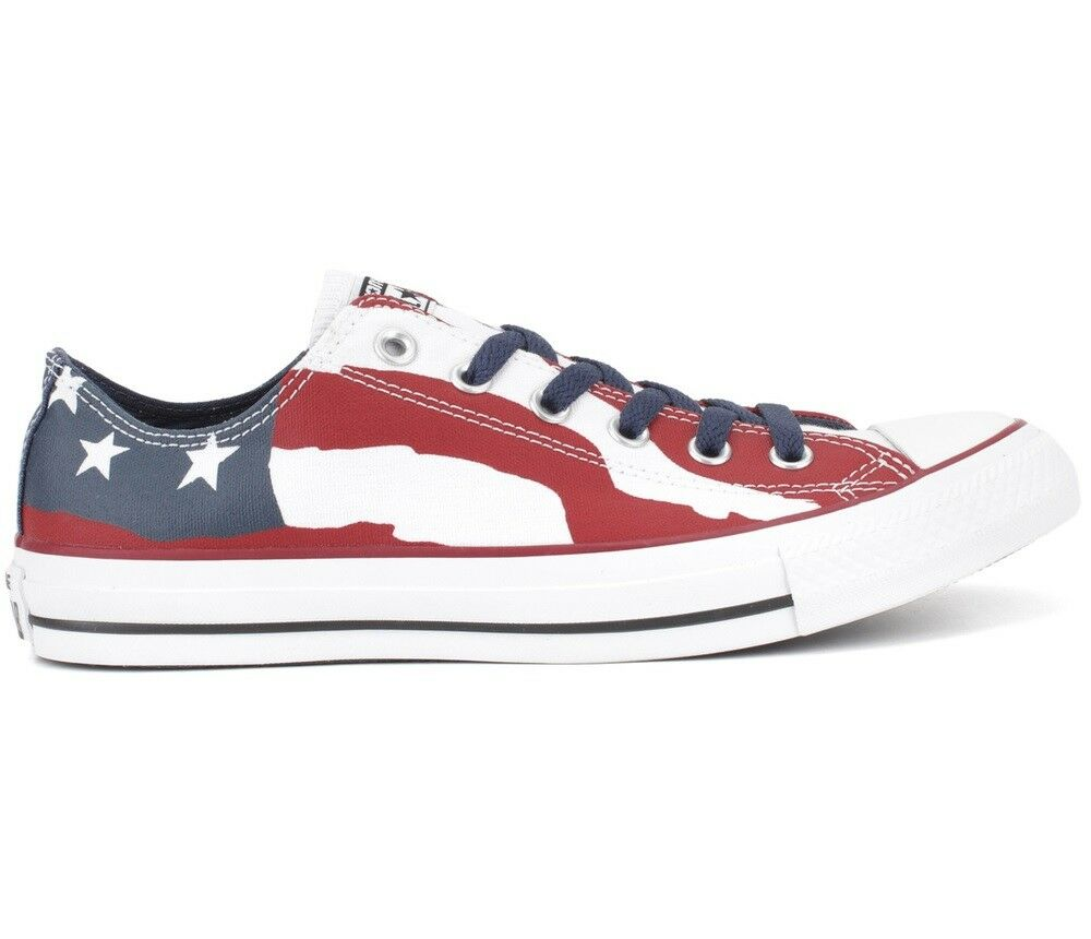 Converse CT All Star Ox Flag Uomo 148835F Red White Blue Canvas Shoes Size 9.5