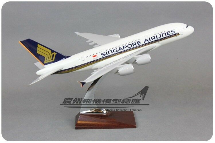 34CM 1 215 SINGAPORE AIRLINES A380 Passenger Airplane Plane Resin Aircraft Model