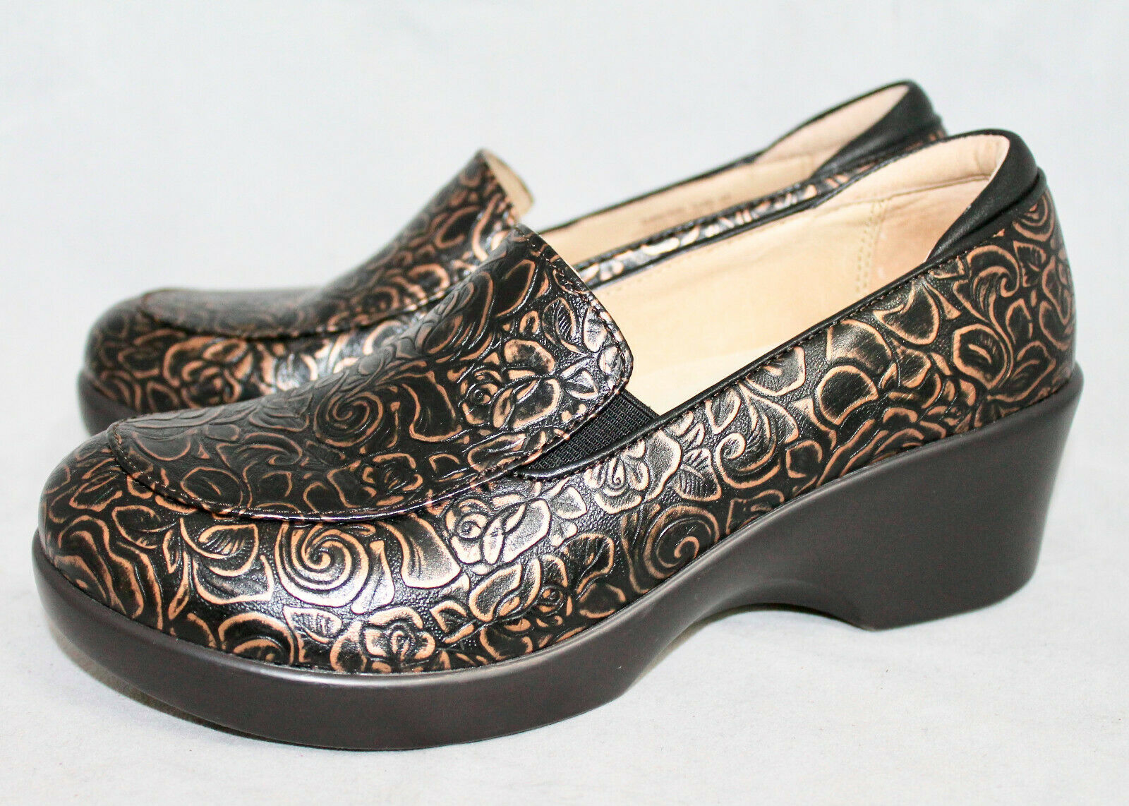 ALEGRIA EMM-548 Emma Bronze Boquet Clogs Wo's 7-7.5 Eu 37 Leather Comfort chaussures