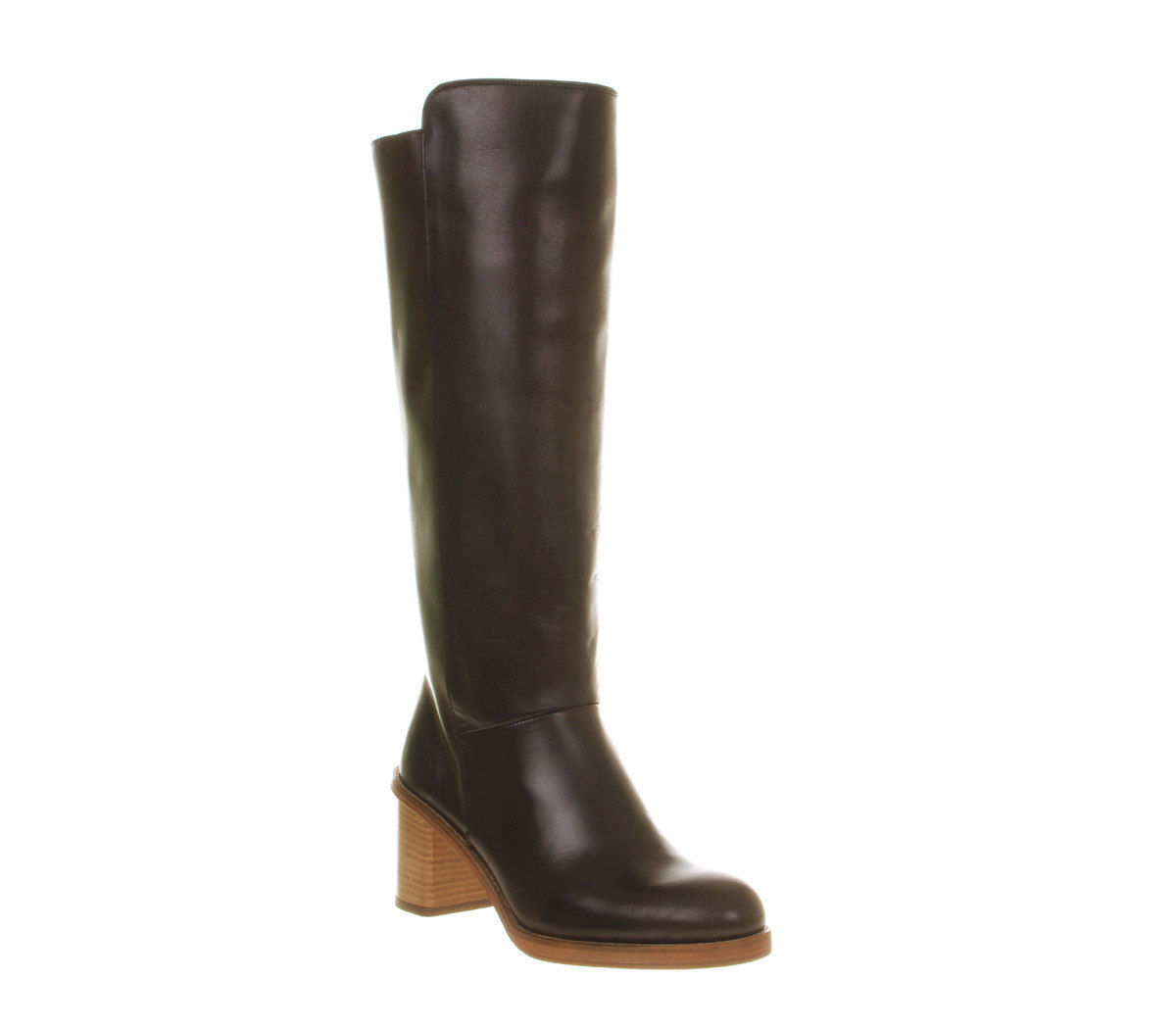 Poste Louise amante mujeres cuero marrón cierre Hi Boot Size
