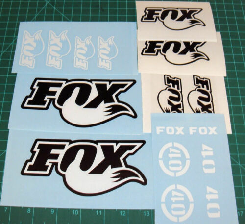 Fox 40 Forks Decals Set Stickers Graphics Fox Racing MTB DH Race Dirt