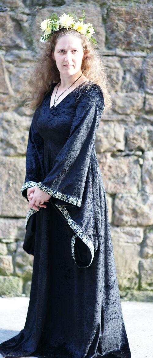 Superbe Noël Crazy, Crazy, Crazy, bonne année salutations médiévale-larp-gothique-cosplay-wicca Haut Prêtresse noir complet à Femmeches d3a653