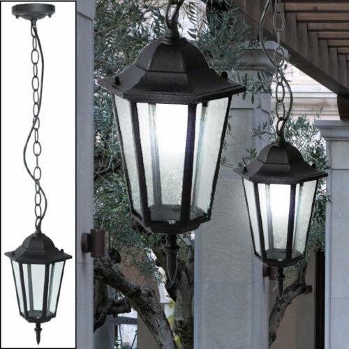 RGB LED ALU Decken Hänge Lampe Glas Dimmer Fernbedienung Garten Außen Strahler