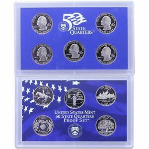 5 Coin Set box COA 1999-S United States Mint Proof State Quarters Set