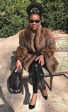 Designer Barguzin Royal Crown Russian sable Fur Coat jacket bolero S-8 $40,000+