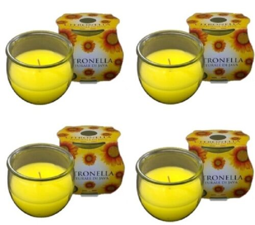 4 PRICES citronella GLASS JAR CANDLE 25 HOUR BURN TIME freepost