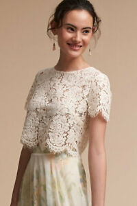 New-BHLDN-Jenny-Yoo-Ivory-Lace-Floral-Kenzie-Top-Size-XS-S-L