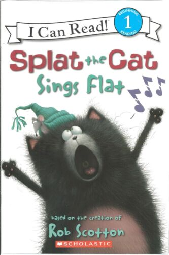 Scholastic Reader Level 1 NEW Splat the Cat Sings Flat READER  LEARNING TO READ