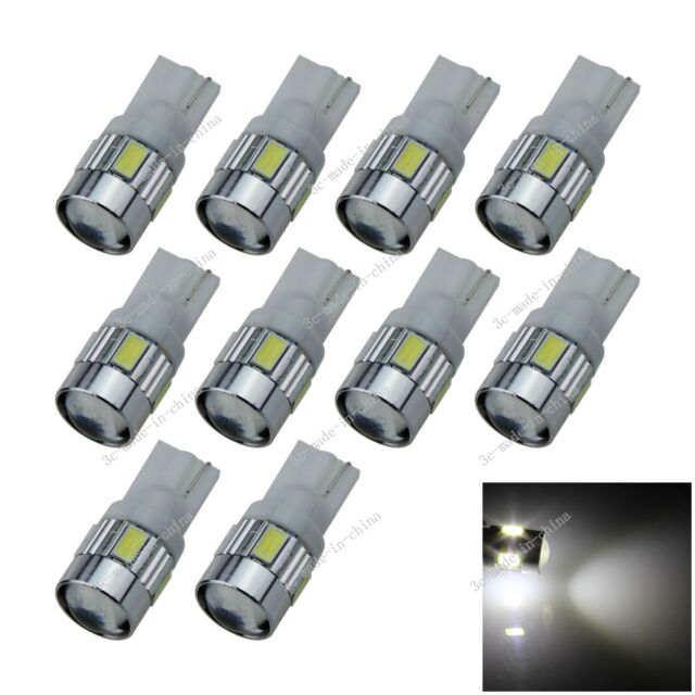 10X Car  6 LED 5630 SMD Top Spotlight T10 W5W Wedge Side Light Bulb Lamp A055