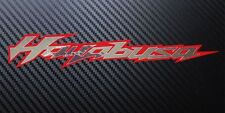 Hayabusa motorcycle decals custom graphics silver chrome on red stickers