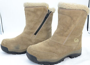 SOREL-Water-Fall-Womens-Sz-9-Thinsulate-Insulation-Leather-Waterproof-Zip-Boots