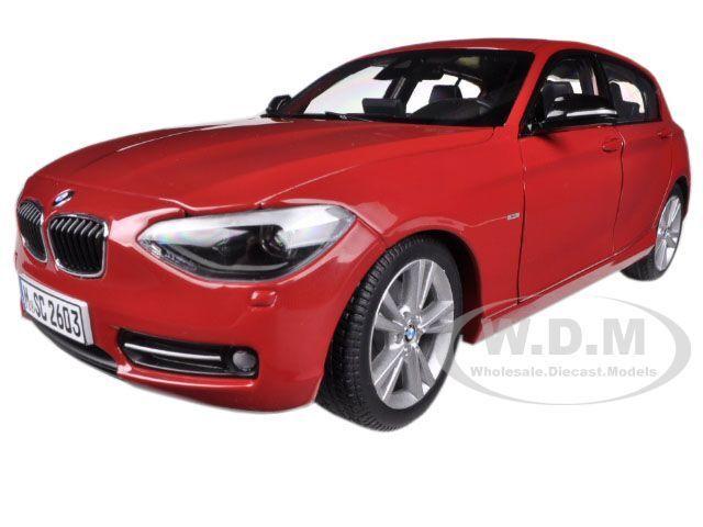BMW F20 1 SERIES rojo 1 18 DIECAST MODEL CAR BY PARAGON 97004