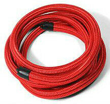 12 AN Pro/'s Lite Red Braided Nylon Fuel Line Hose 350 PSI Nitrile Inner Core