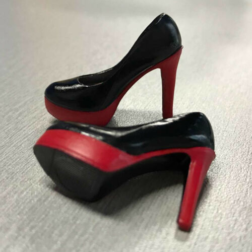 1//6 Scale High Heels Platform Shoes for 12/'/' Female Figurines Black+Red