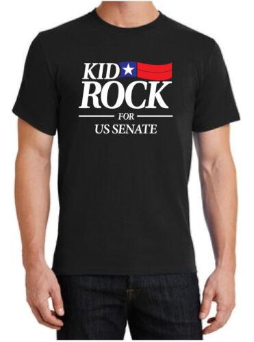 Kid Rock FOR US SENATE T-SHIRT American Bad Ass Black Tee S-6XL FAST FREE SHIP!