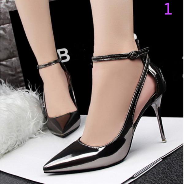 512980ab917 zapatos de salón sandalias de mujer elegantes negro ma cinturón 9.5 cm  cómodo f713cf - anabeltarot.es