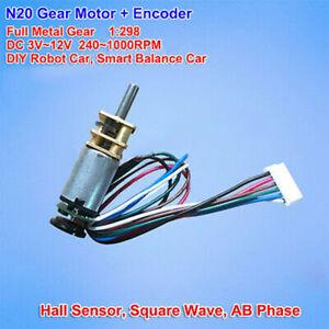 N20-DC-3V-12V-6V-Small-Metal-Gear-Motor-Speed-Encoder-Hall-Balance-forRobot-Car
