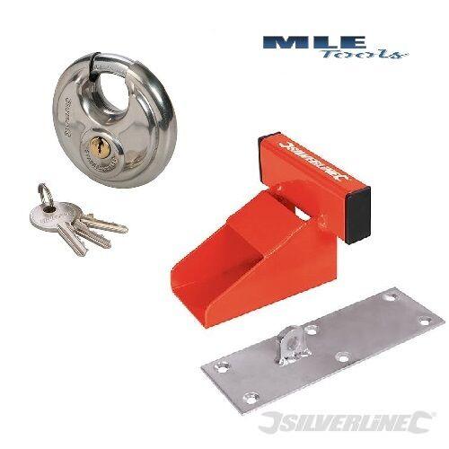 Silverline Up And Over Garage Door Defender Heavy Duty Lock Stopper