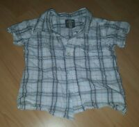 Tolles Hemd, kurzarm, Größe 86, blau braun kariert von H&M L.O.G.G