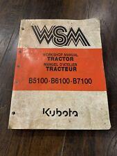 New Listingkubota B5100 B6100 B7100 Tractor Workshop Manual Wsm