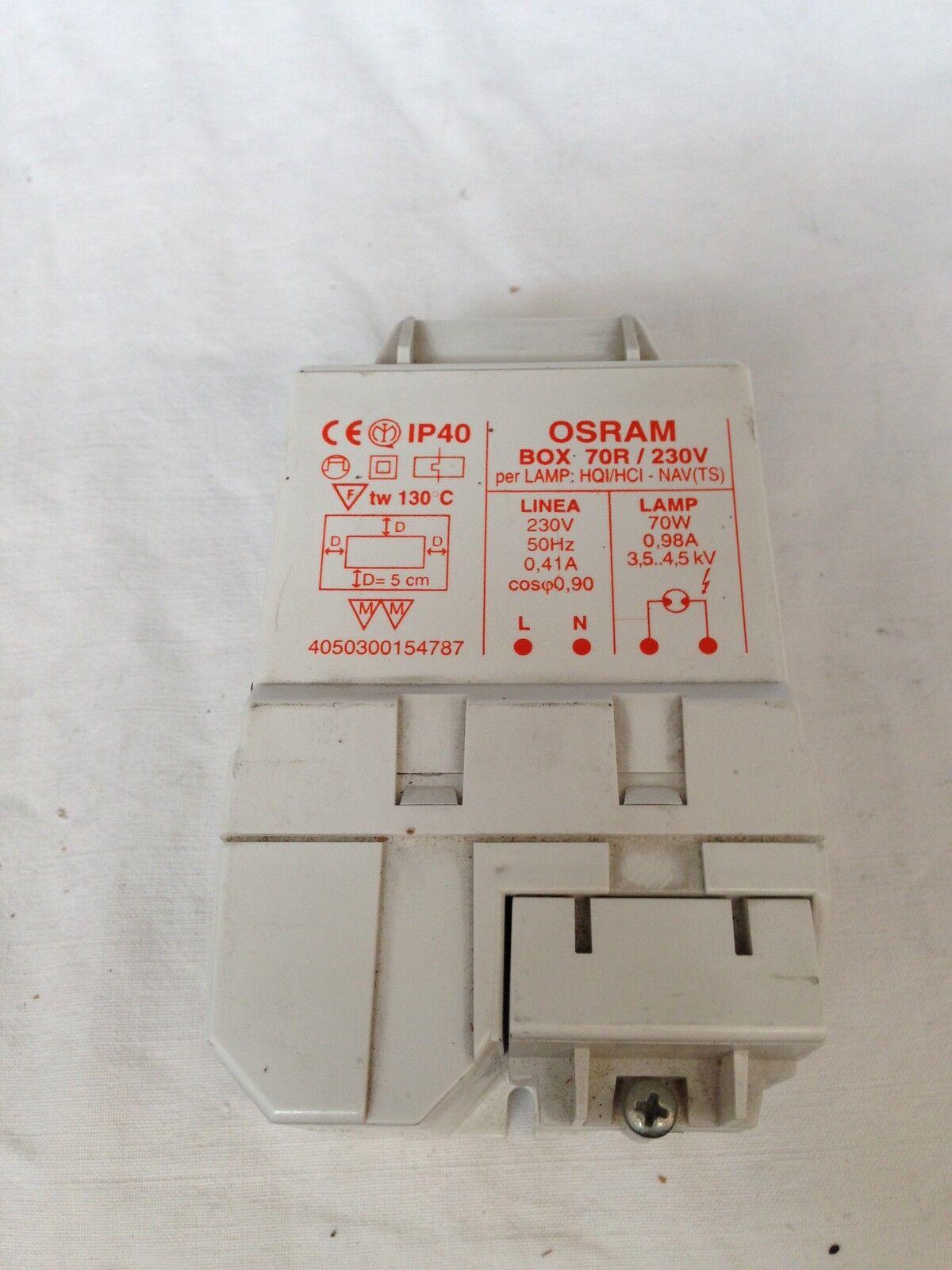 KIT  ALIMENTATORE ACCENDITORE BALLAST 70W SCARICA OSRAM BOX 70R 230V
