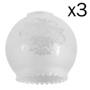 Lot-de-3-traditionnel-Damasse-Floral-Design-Bola-acide-grave-plafond-abat-jour-en-verre