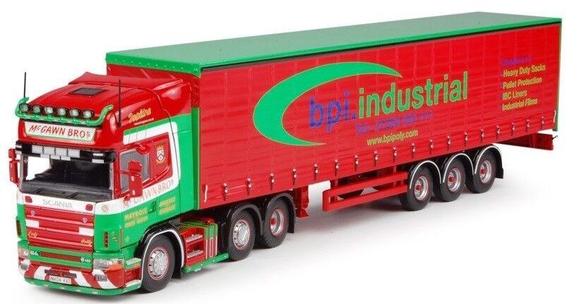 TEK61526 - Camion SCANIA 164 Topline 4 et remorque bachée 3 essieux aux couleurs