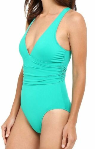 Back Beach Lauren Taglia Ralph bagno Smeraldo Club intero Costume da 4 Cross Solids wq6RXXz
