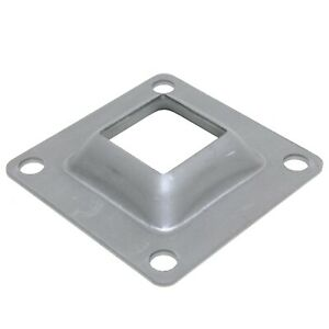 4-x-4-Flange-Square-Base-Plate-Steel-Bracket-for-1-1-2-034-Metal-Posts-Skirt-4PCS