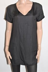 TEMT-Designer-Black-Short-Sleeve-Shift-Dress-Size-12-BNWT-TD03