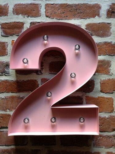 Led carnaval anniversaire fête anniversaire large 33CM rose métal numéros 1-9