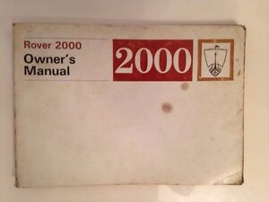 ROVER-2000-OWNERS-MANUAL
