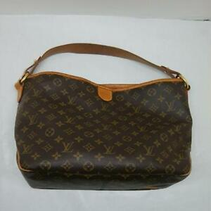LOUIS-VUITTON-M40352-Delightful-PM-Monogram-Brown-Shoulder-Bag-Used