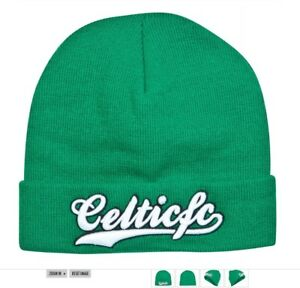 9e523f8f7 Details about Celtic Knitted Hat Official Glasgow Celts Hoops Football Club  FC Text New