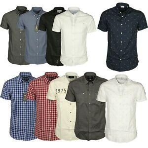 Men-039-s-Jack-amp-Jones-Designer-Short-Sleeve-Collared-Casual-Regular-Fit-Shirts