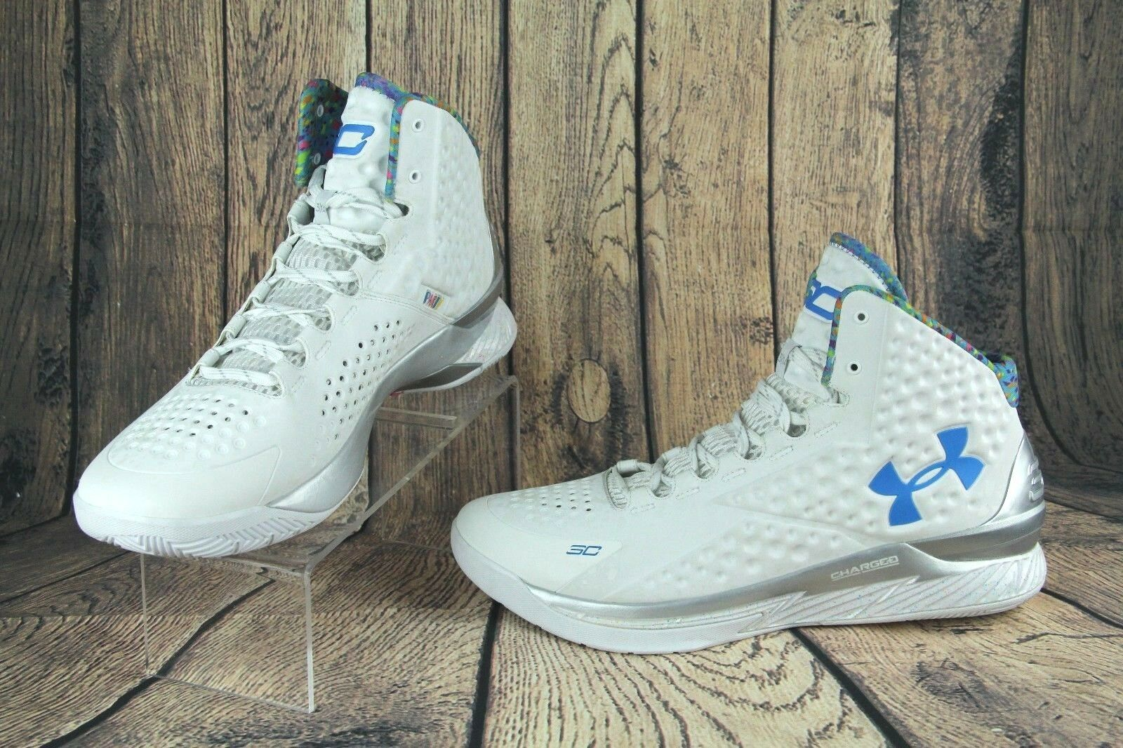 Under Armour UA Curry 1 Splash Party Surprise Surprise Surprise scarpe Splatter 1286288-100 SZ 15 902449