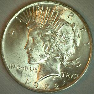 1922 Peace Silver Dollar Circulated Philadelphia Mint