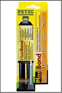 petec 98325 plastbond plastik kunstoff kleber 2 komponenten klebstoff reparatur ebay. Black Bedroom Furniture Sets. Home Design Ideas
