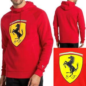 Puma-Ferrari-7621340-Men-039-s-Shield-Graphic-Logo-Track-Pullover-Hoodie