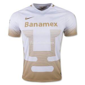 2015-2016 Nike UNAM Pumas Away Replica Soccer Home Jersey (White ... a98595246