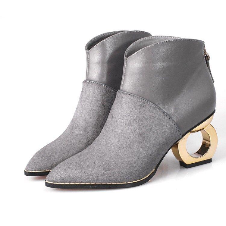 goditi il 50% di sconto donna'S Med Special Special Special Heel Pointy Toe Back Zipper Ankle Roman Style stivali scarpe  nuovi prodotti novità