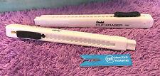 2x Pentel Mechanical Clic Erasers Pen Style Clicker Retractable Thin Erazer New