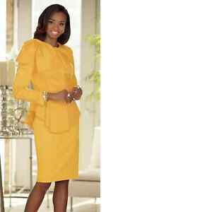 Details about size 10 Costa Del Sol Skirt Suit yellow by Ashro