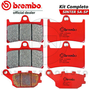 Set Brake Pads BREMBO Red Front+Rear for Yamaha YZF 600 R6 2004