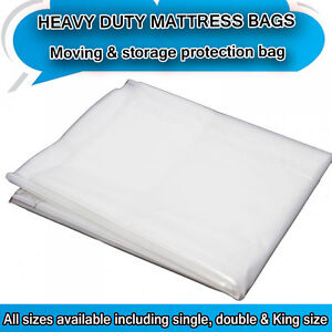 Image Is Loading Heavy Duty Removal Moving Mattress Polythene Cover Super