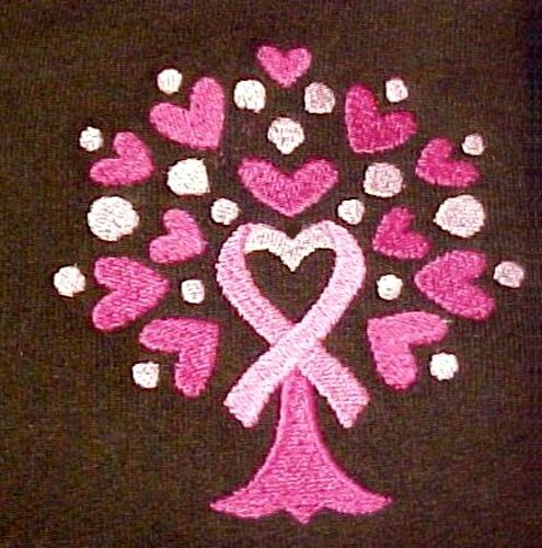 Pink Ribbon Tree Hoodie Large Breast Cancer Awareness Heart Brown Sweatshirt New